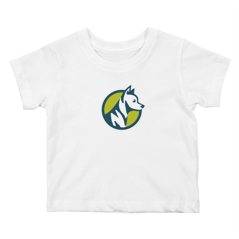 ZEBRADOG Button Icon Kids Baby T-Shirt by Zebradog Apparel & Accessories