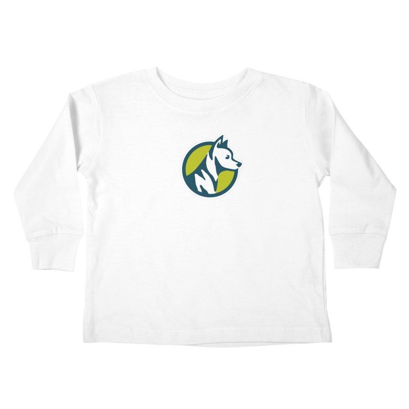 ZEBRADOG Button Icon Kids Toddler Longsleeve T-Shirt by Zebradog Apparel & Accessories