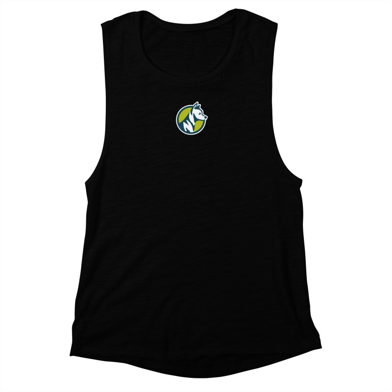 ZEBRADOG Button Icon Women's Muscle Tank by Zebradog Apparel & Accessories