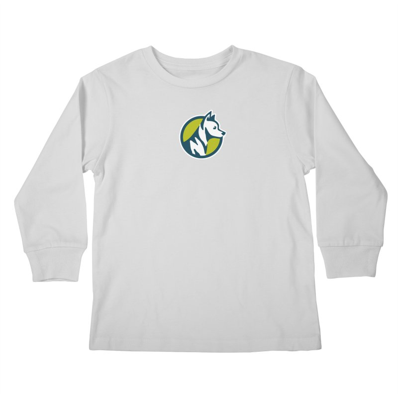 ZEBRADOG Button Icon Kids Longsleeve T-Shirt by Zebradog Apparel & Accessories