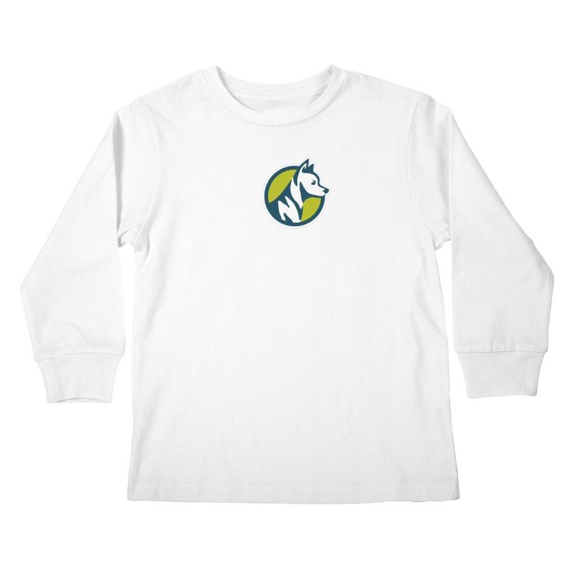 ZEBRADOG Button Icon Kids Longsleeve T-Shirt by Zebradog Apparel & Accessories