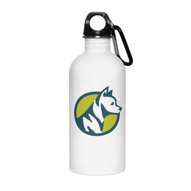 ZEBRADOG Button Icon Accessories Water Bottle by Zebradog Apparel & Accessories