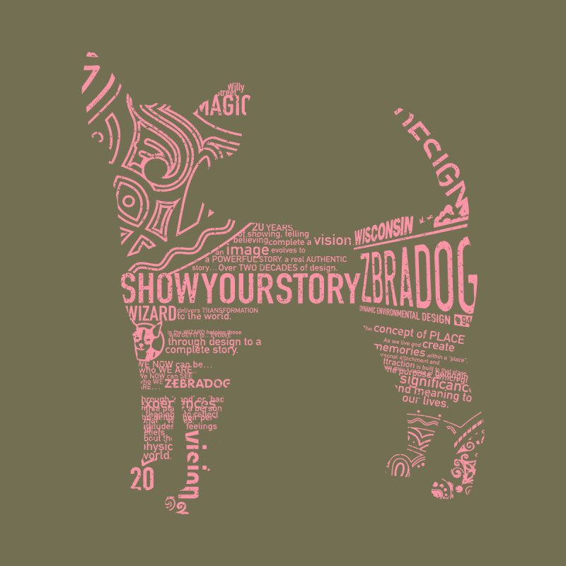 Show Your Story (Pink on Green) Women's T-Shirt by Zebradog Apparel & Accessories