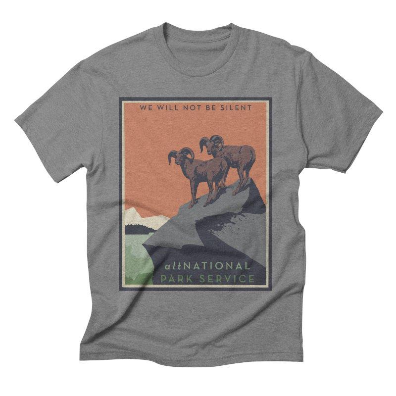altNPS - We Will Not Be Silent in Men's Triblend T-shirt Grey Triblend by zellerpress