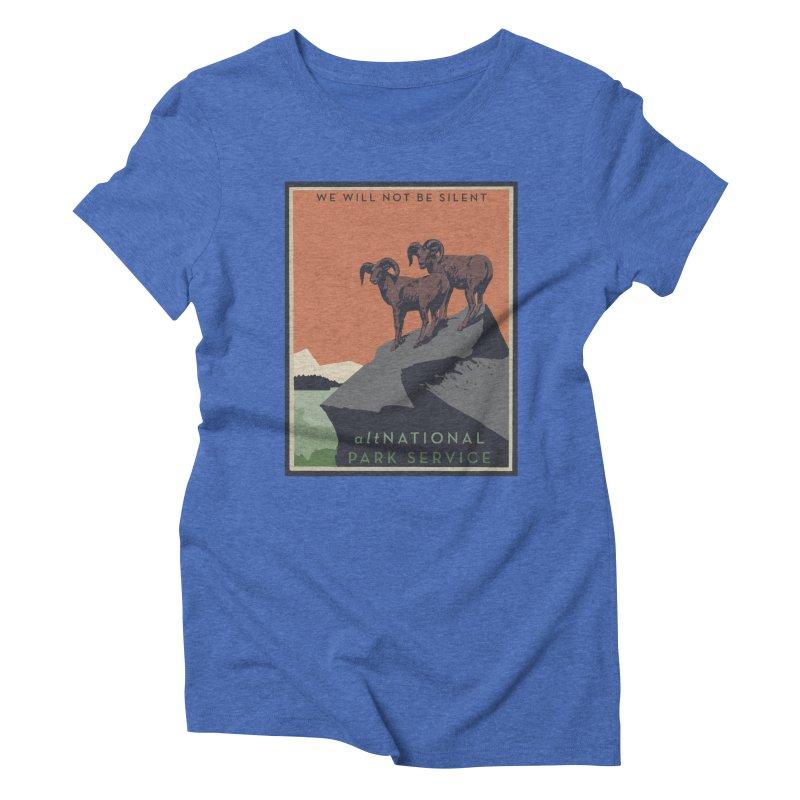 altNPS - We Will Not Be Silent in Women's Triblend T-shirt Blue Triblend by zellerpress