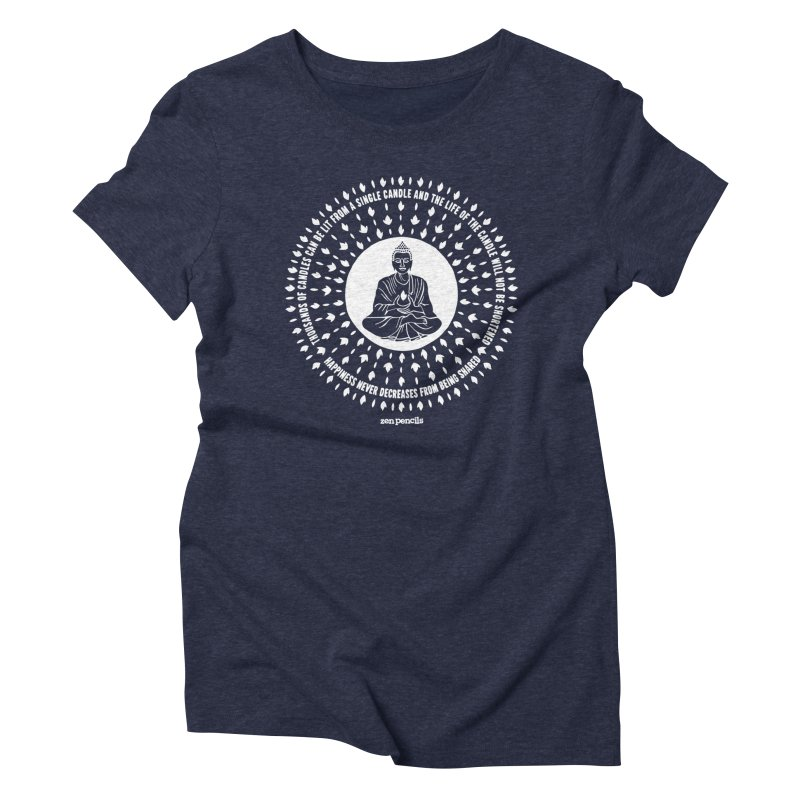 Thousands of candles Women's Triblend T-Shirt by ZEN PENCILS Apparel