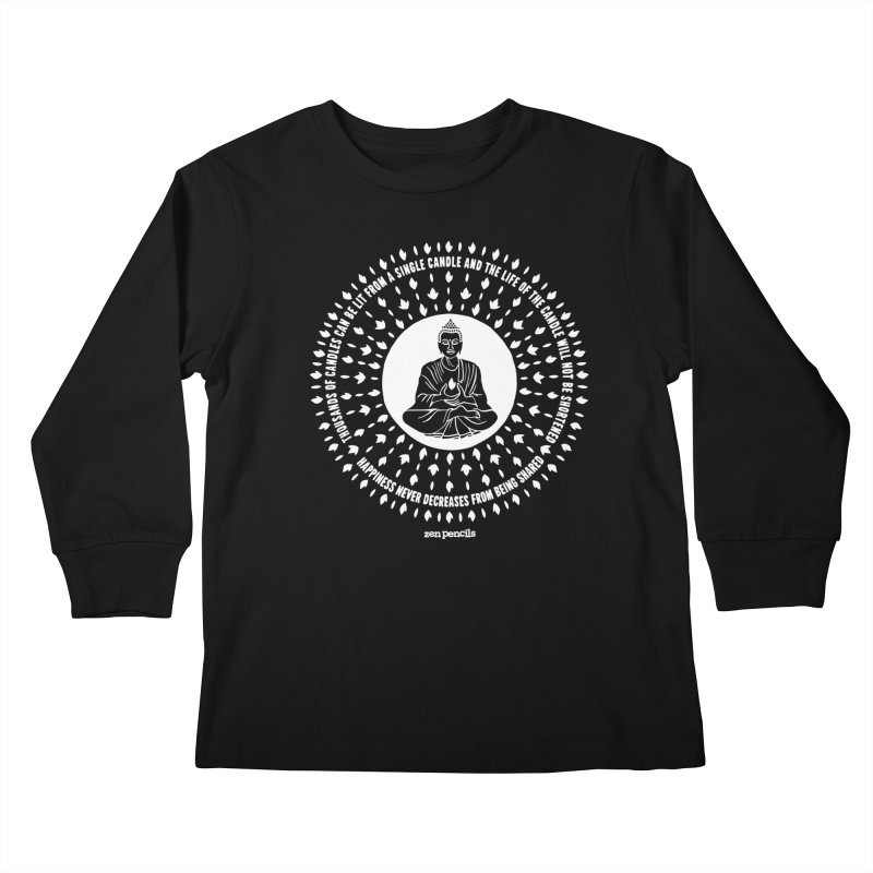 Thousands of candles Kids Longsleeve T-Shirt by ZEN PENCILS Apparel