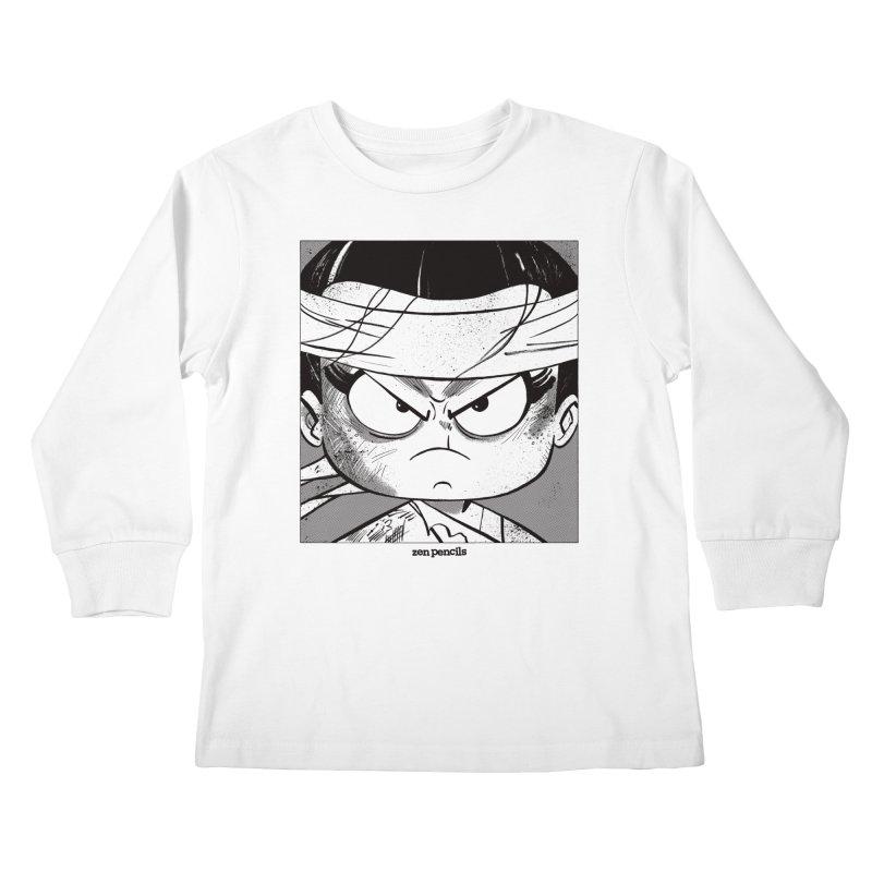 My Spirit is a Roaring Sea Kids Longsleeve T-Shirt by ZEN PENCILS Apparel