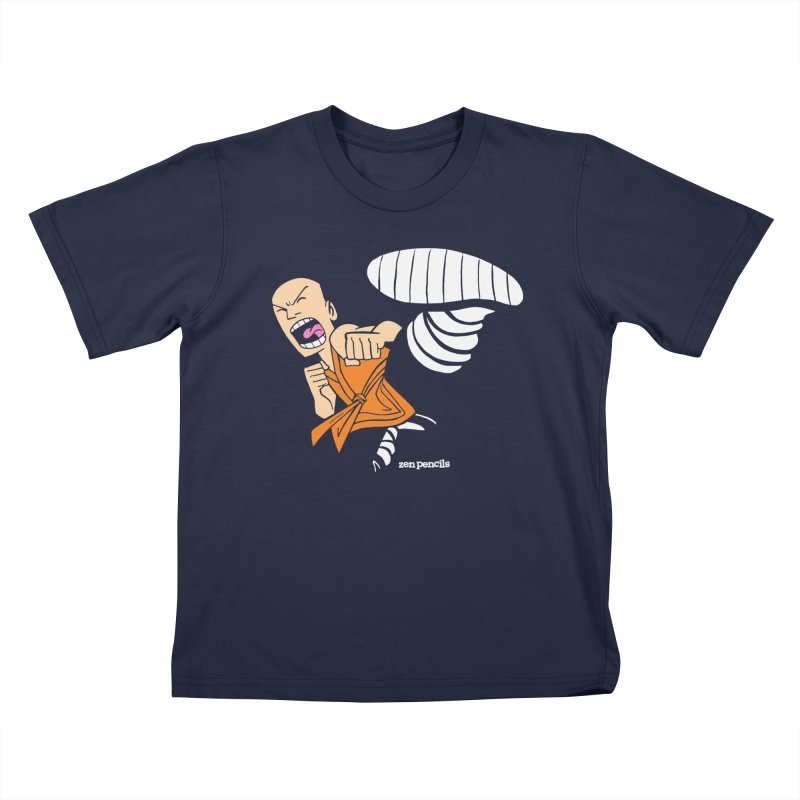 Shaolin monk Kids T-Shirt by ZEN PENCILS Apparel