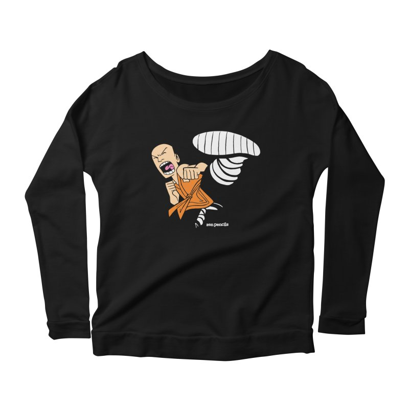 Shaolin monk Women's Scoop Neck Longsleeve T-Shirt by ZEN PENCILS Apparel