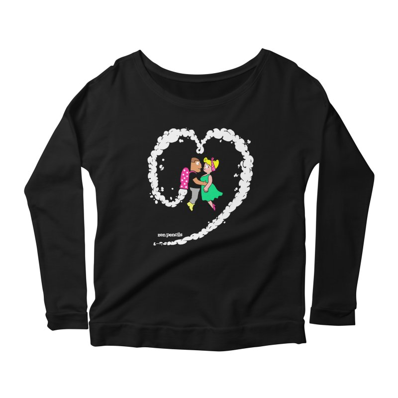 The Can-Do Girl Women's Longsleeve Scoopneck  by ZEN PENCILS Apparel