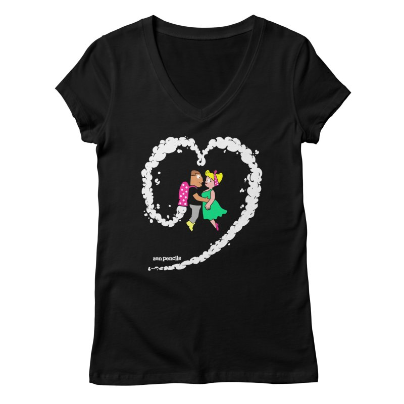 The Can-Do Girl Women's Regular V-Neck by ZEN PENCILS Apparel