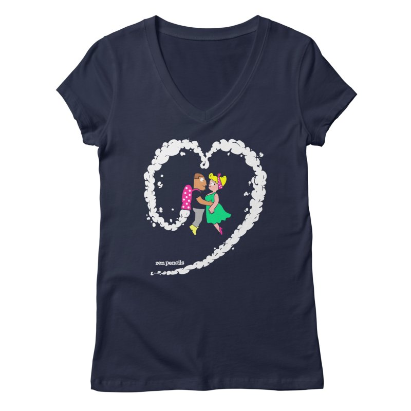 The Can-Do Girl Women's V-Neck by ZEN PENCILS Apparel