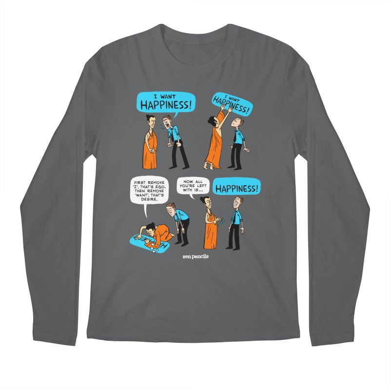 Happiness Men's Longsleeve T-Shirt by ZEN PENCILS Apparel