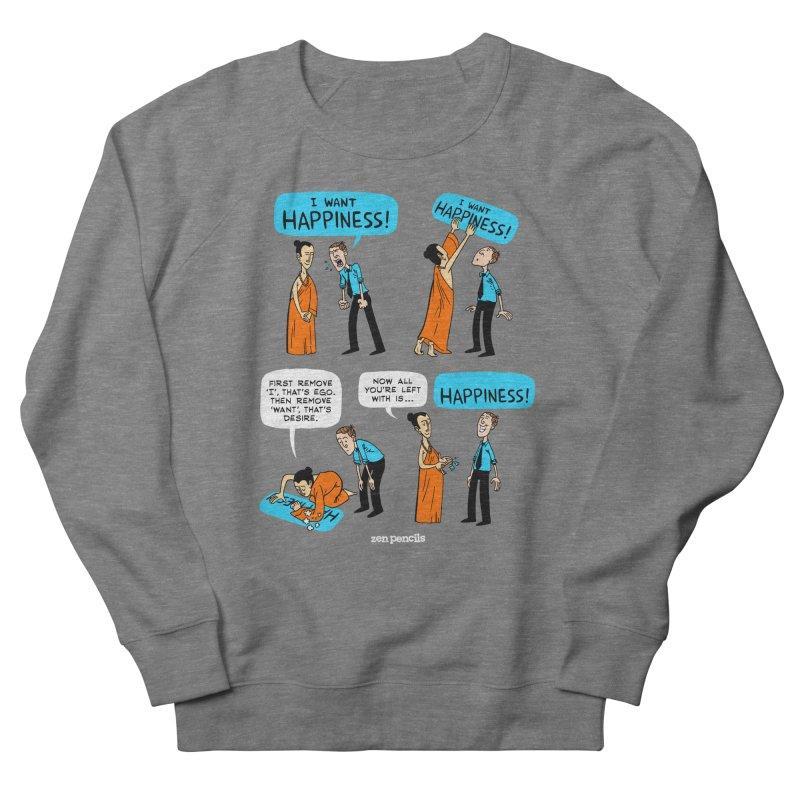 Happiness Women's French Terry Sweatshirt by ZEN PENCILS Apparel