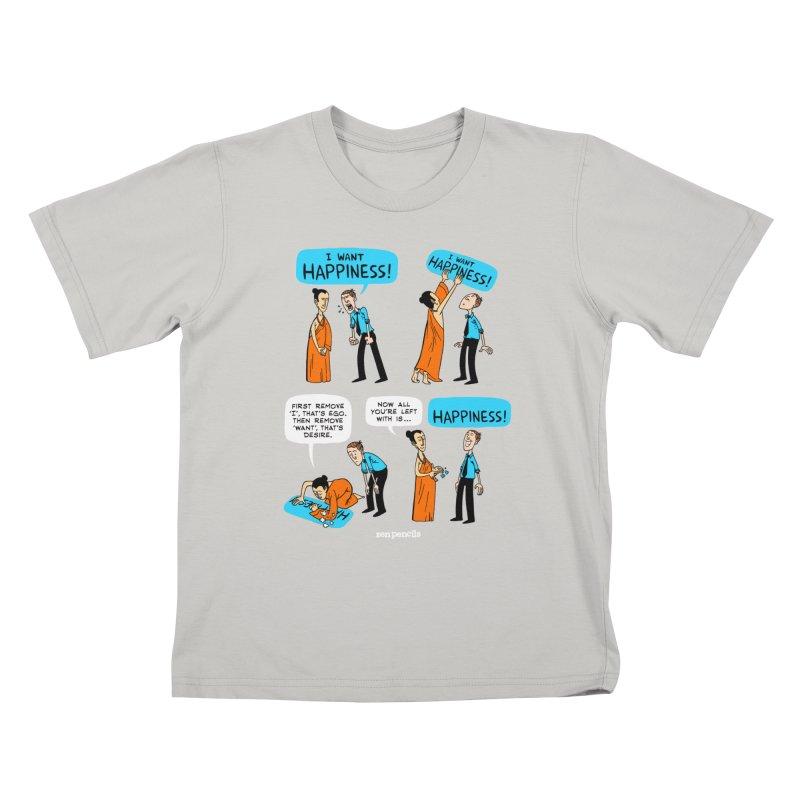 Happiness Kids T-shirt by ZEN PENCILS Apparel