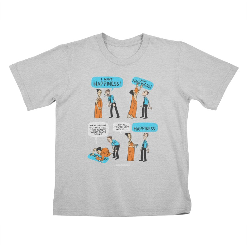 Happiness Kids T-Shirt by ZEN PENCILS Apparel