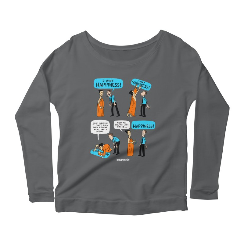 Happiness Women's Scoop Neck Longsleeve T-Shirt by ZEN PENCILS Apparel