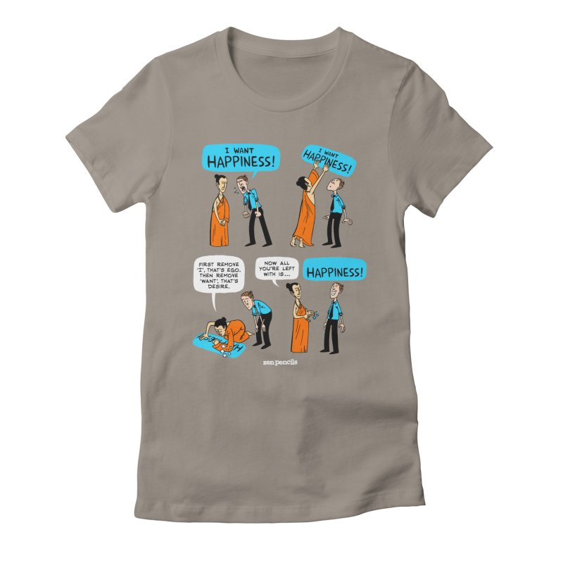 Happiness Women's Fitted T-Shirt by ZEN PENCILS Apparel