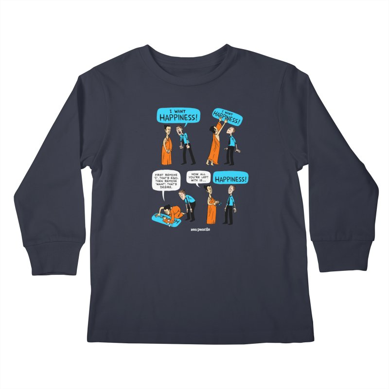 Happiness Kids Longsleeve T-Shirt by ZEN PENCILS Apparel
