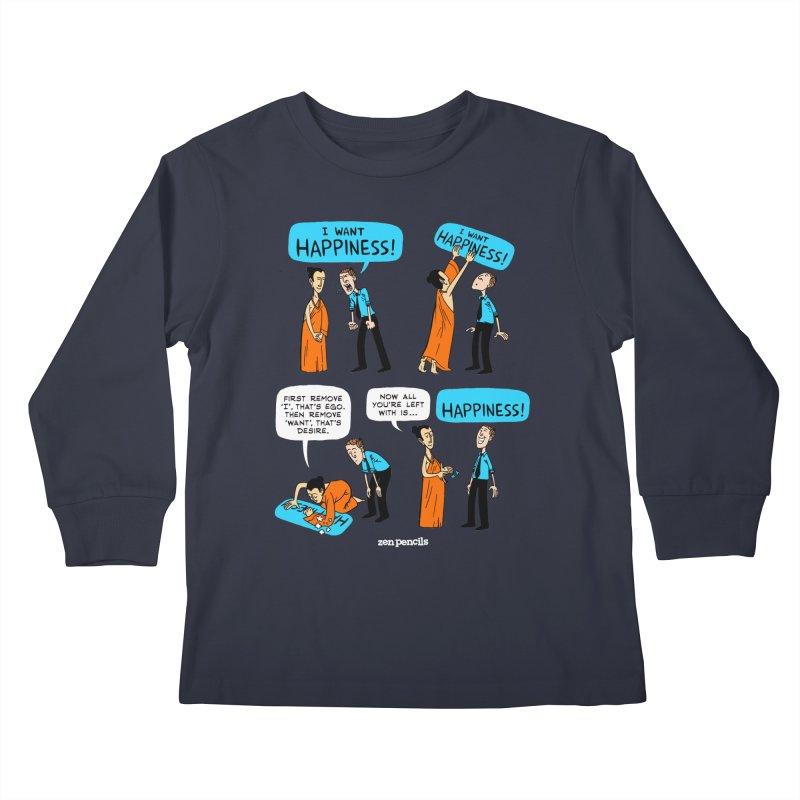 Happiness Kids Longsleeve T-Shirt by ZEN PENCILS Apparel
