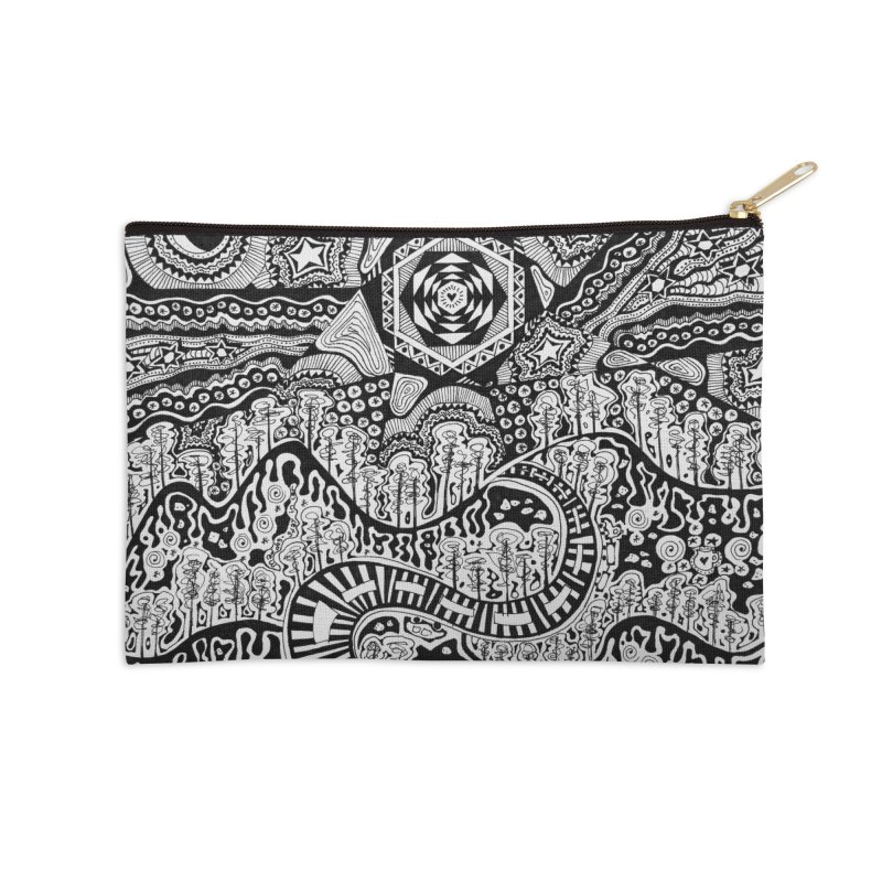 Lost In The Pilliga Accessories Zip Pouch by 3boysenberries
