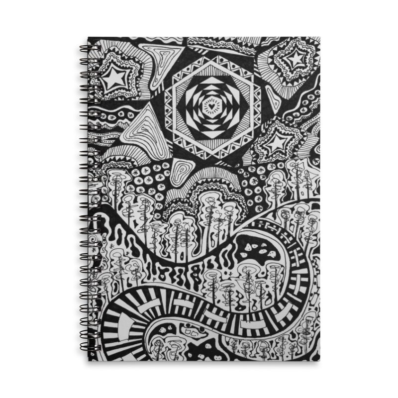 Lost In The Pilliga Accessories Lined Spiral Notebook by 3boysenberries