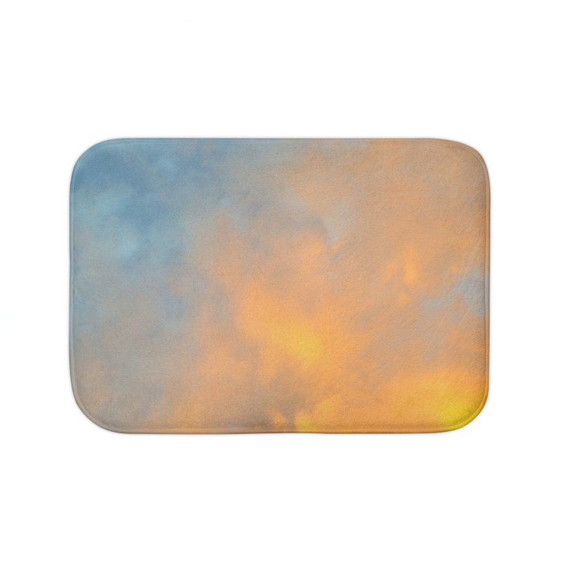Golden Blue Sky Home Bath Mat by 3boysenberries