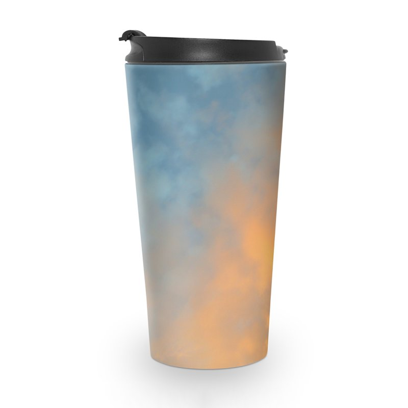 Golden Blue Sky Accessories Travel Mug by 3boysenberries