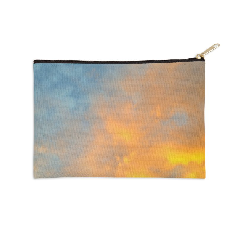 Golden Blue Sky Accessories Zip Pouch by 3boysenberries