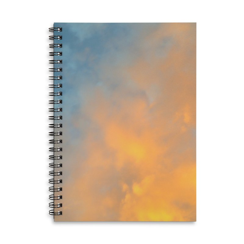 Golden Blue Sky Accessories Lined Spiral Notebook by 3boysenberries
