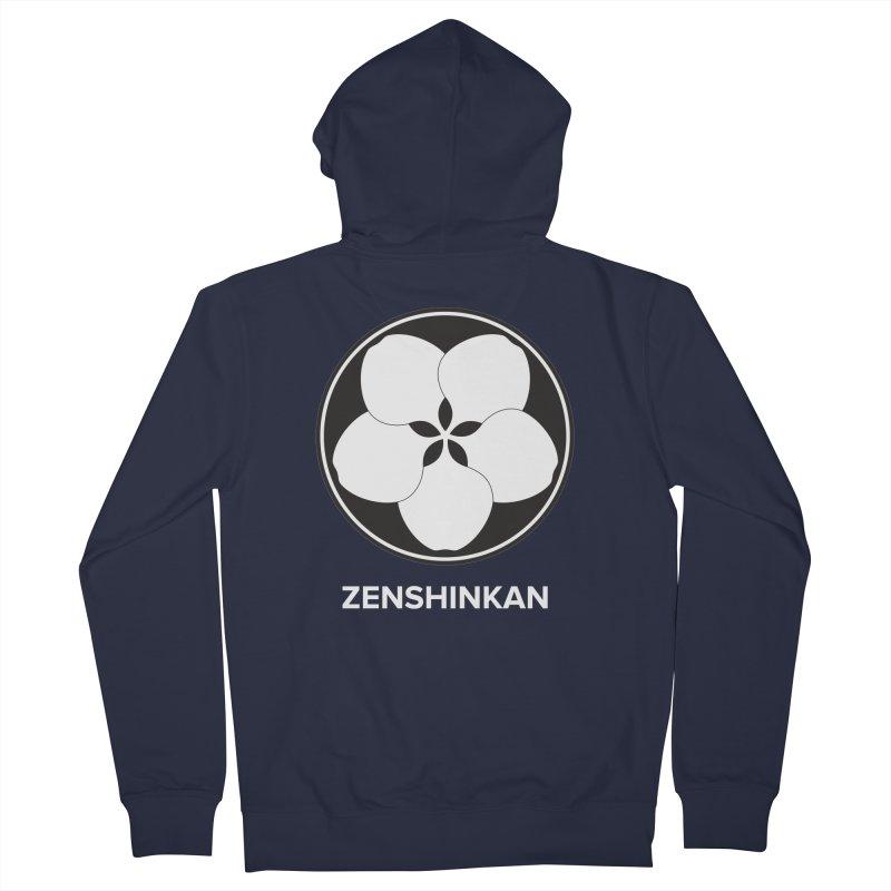 Zenshinkan  Men's French Terry Zip-Up Hoody by Zenshinkan's Shop