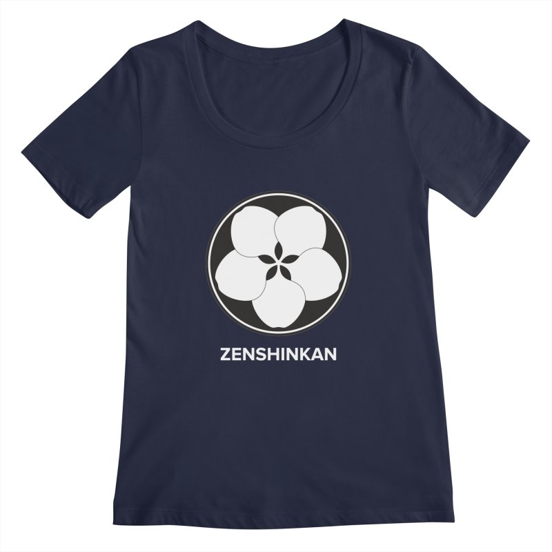 Zenshinkan  Women's Scoopneck by Zenshinkan's Shop