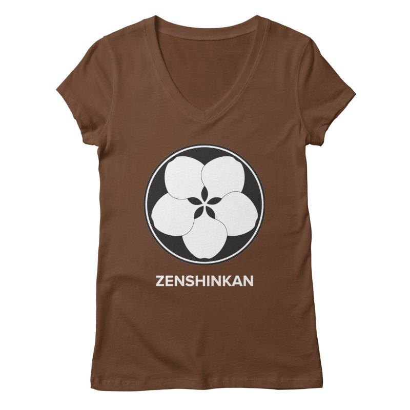 Zenshinkan  Women's Regular V-Neck by Zenshinkan's Shop