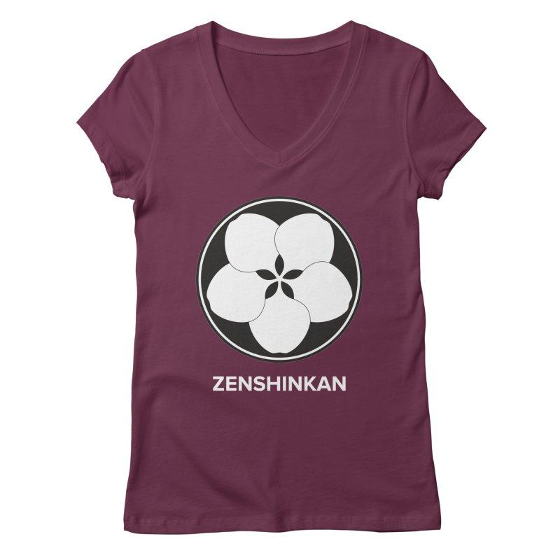 Zenshinkan  Women's V-Neck by Zenshinkan's Shop