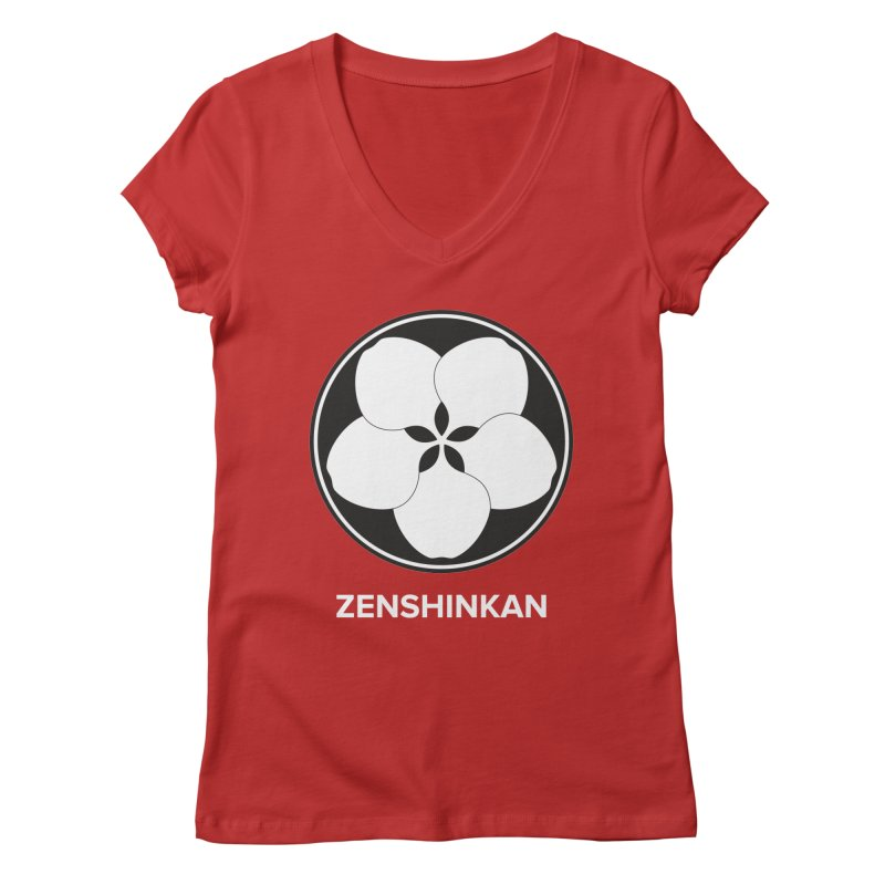 Zenshinkan  Women's Regular V-Neck by Zenshinkan's Shop