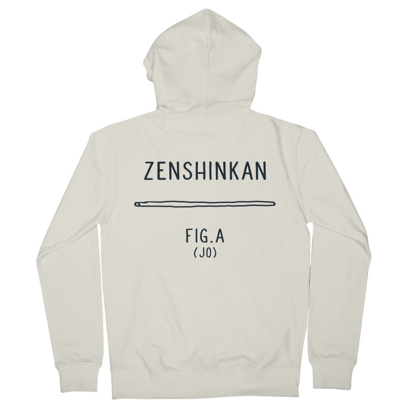 Jo Men's French Terry Zip-Up Hoody by Zenshinkan's Shop