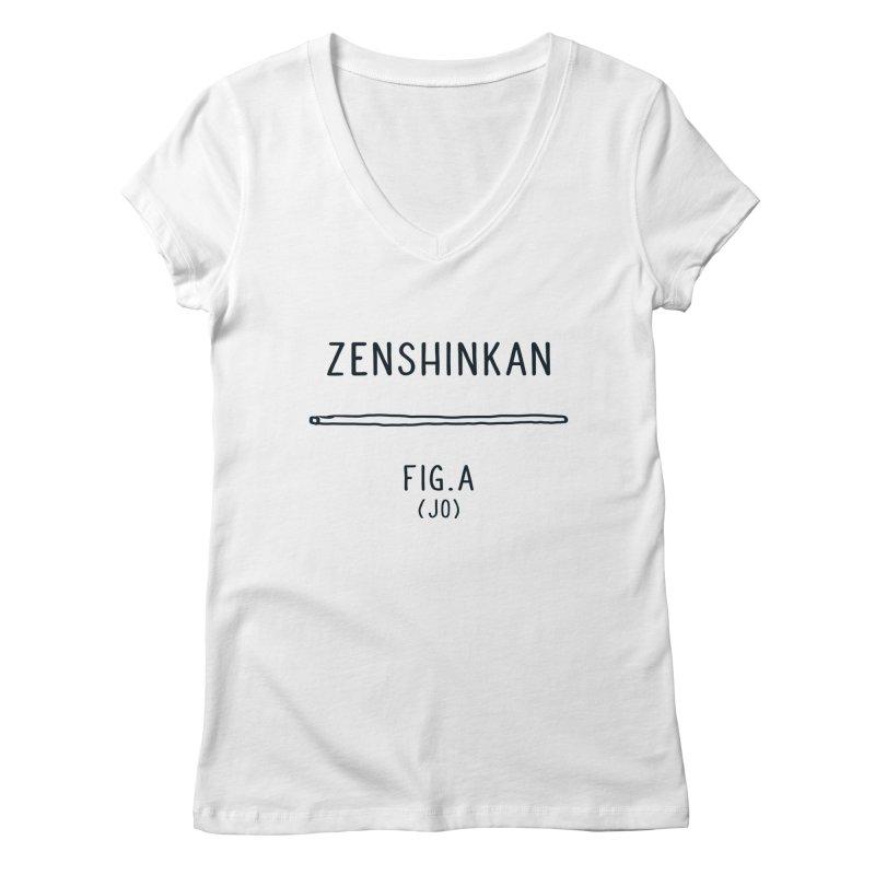 Jo Women's Regular V-Neck by Zenshinkan's Shop