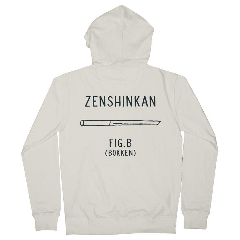 Bokken Men's Zip-Up Hoody by Zenshinkan's Shop