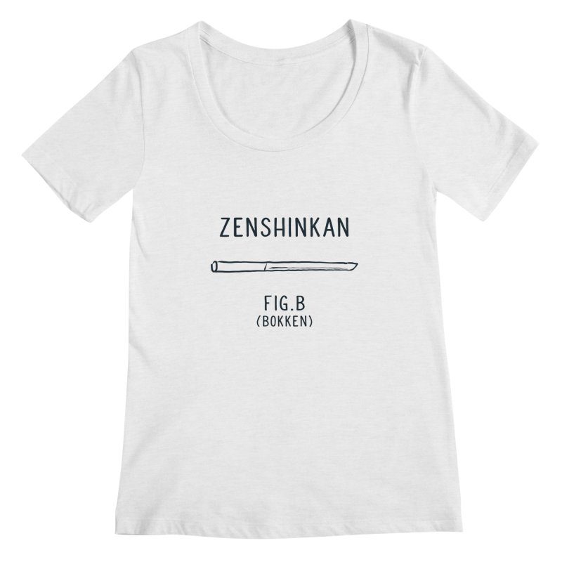 Bokken Women's Scoopneck by Zenshinkan's Shop