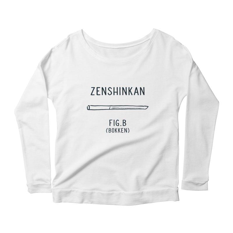 Bokken Women's Longsleeve Scoopneck  by Zenshinkan's Shop