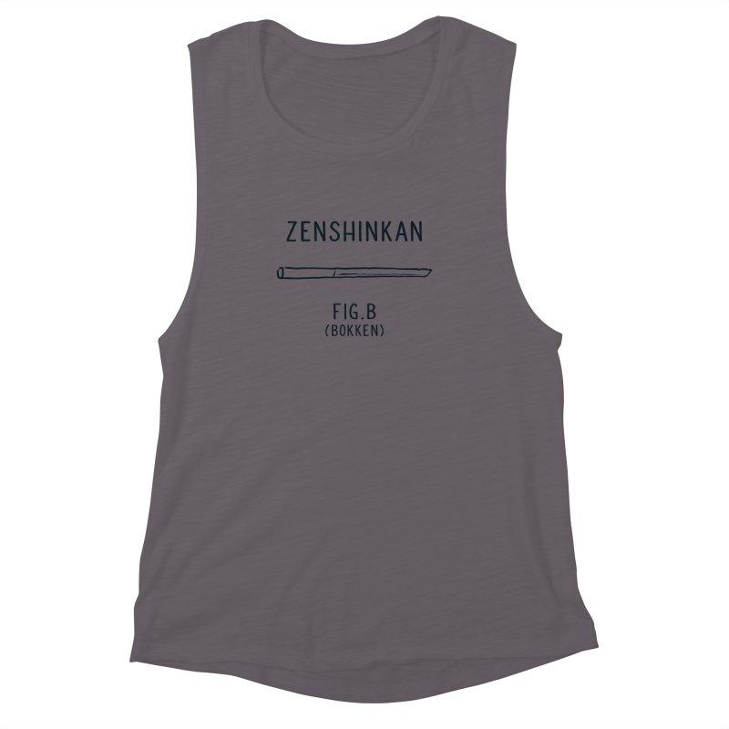 Bokken Women's Muscle Tank by Zenshinkan's Shop