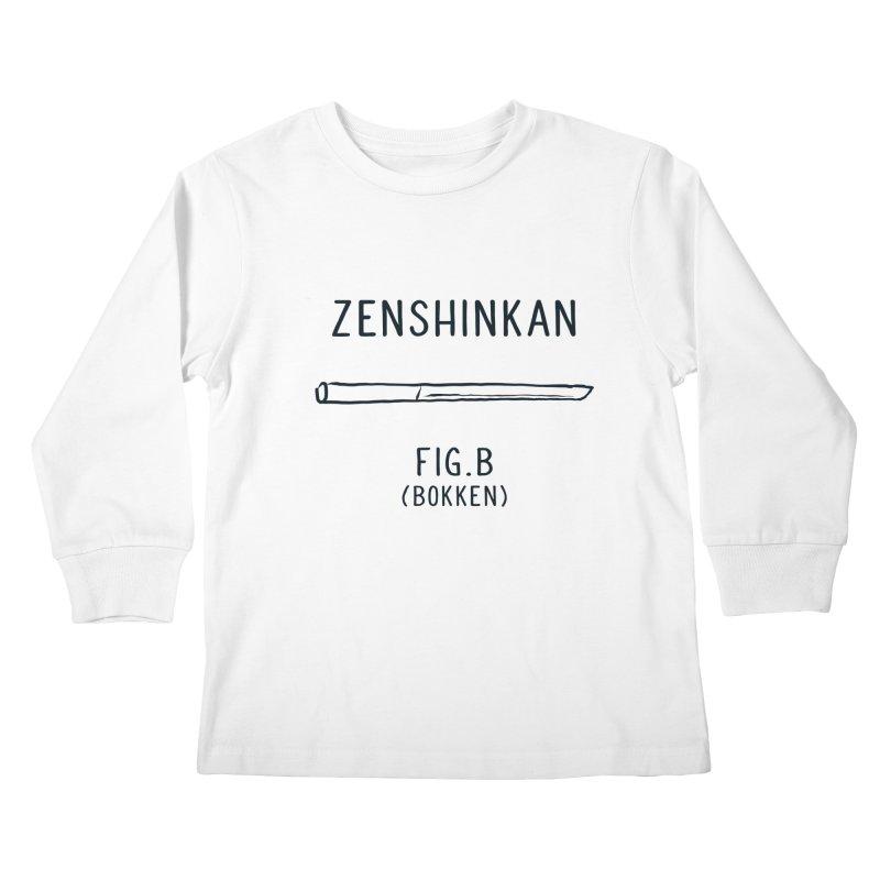Bokken Kids Longsleeve T-Shirt by Zenshinkan's Shop
