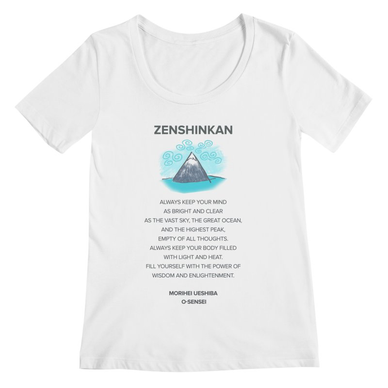 Power of Wisdom Women's Scoopneck by Zenshinkan's Shop