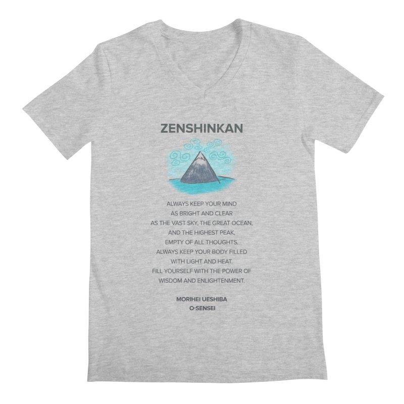 Power of Wisdom Men's V-Neck by Zenshinkan's Shop