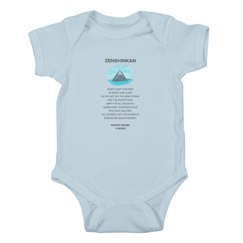 Power of Wisdom Kids Baby Bodysuit by Zenshinkan's Shop