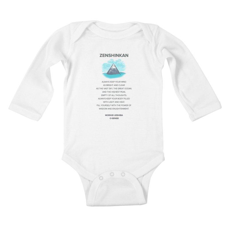 Power of Wisdom Kids Baby Longsleeve Bodysuit by Zenshinkan's Shop