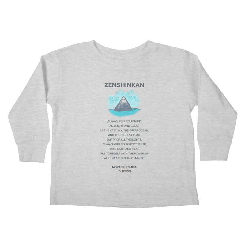 Power of Wisdom Kids Toddler Longsleeve T-Shirt by Zenshinkan's Shop