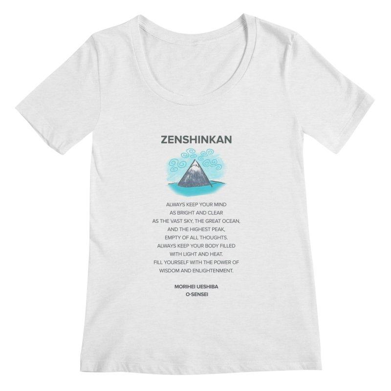 Power of Wisdom Women's Scoopneck by Zenshinkan's Shop
