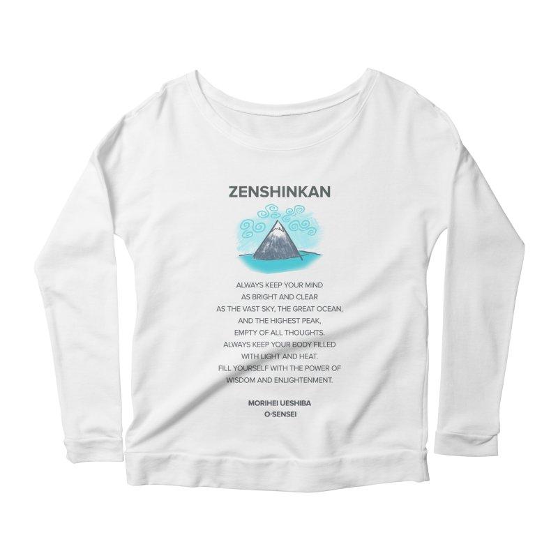 Power of Wisdom Women's Longsleeve Scoopneck  by Zenshinkan's Shop